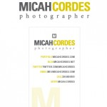 Micah Cordes Photography business card