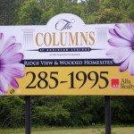 The Columns Entrance Sign